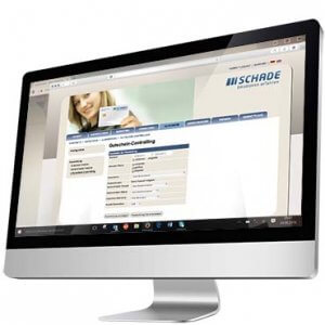The EcoData Loyalty Card Software on a PC