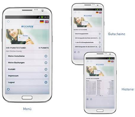 Kundenkarte auf dem Smartphone